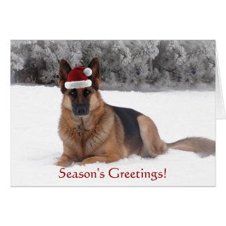 Den tyska herden Julhälsningar Hälsningskort