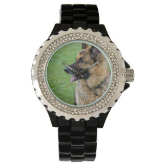 Den tyska herden profilerar armbandsur