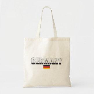 Den tysklanda flagga hänger lös budget tygkasse