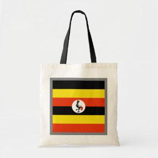 Den Uganda flagga hänger lös Tygkasse