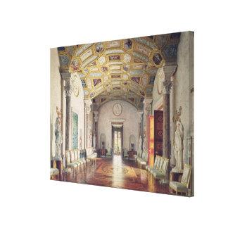 Den underbara agaten Hall i den Catherine slotten Canvastryck