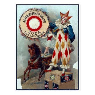 Den underbara armen & bultar brännmärker vykort