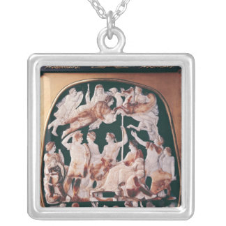 Den underbara cameoen av frankriken silverpläterat halsband
