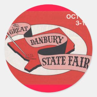 Den underbara Danbury statliga mässaklistermärken Runt Klistermärke