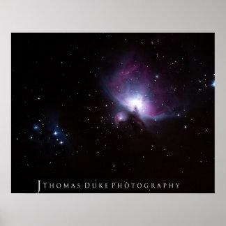 Den underbara Orion nebulaen Affisch