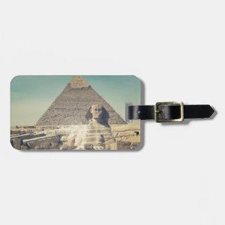 Den underbara sphinxen av Giza Bagagebricka