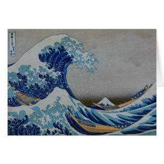 Den underbara tsunamien hälsningskort