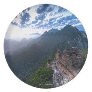 Den underbara väggen av chinan, unrestored JianKou Tallrikar