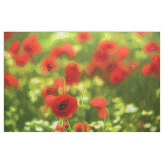 Den underbara vallmon blommar VI - Wundervolle Tyg