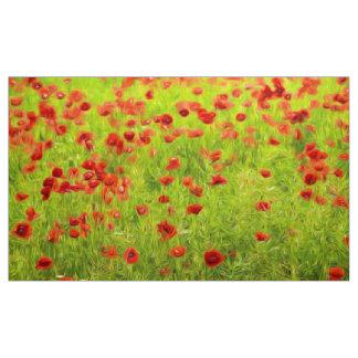 Den underbara vallmon blommar VIII - Mohnbluhmen Tyg