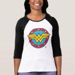 Den undra kvinnan cirklar & stjärnalogotypen t-shirt