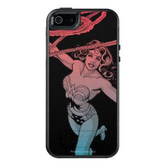 Den undra kvinnan med röd blåttlutning för Lasso OtterBox iPhone 5/5s/SE Skal