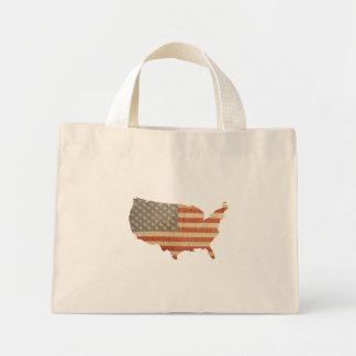 Den United States land & flagga hänger lös Tote Bags