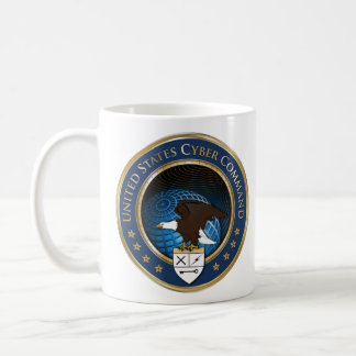 Den United States US cyberen befaller Kaffemugg