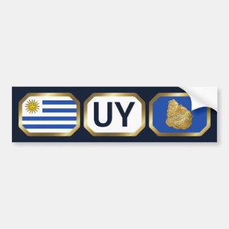 Den Uruguay flaggakartan kodifierar bildekalet Bildekal