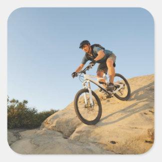 Den USA Kalifornien, Laguna stranden, att cykla Fyrkantigt Klistermärke