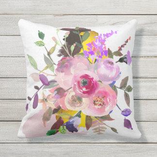 Den utomhus- blom- dekorativ kudde, grå färg utomhuskudde