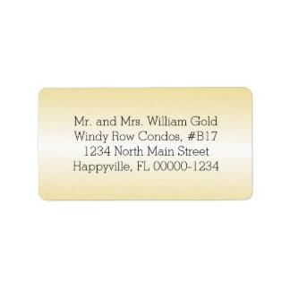 Den utskrivavna guld- returadressen eller förbigår adressetikett