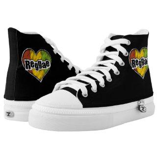 Den utskrivavna reggaen skor