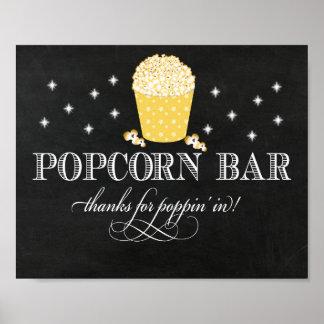 Den utsmyckade Popcornpuben undertecknar - tack Poster