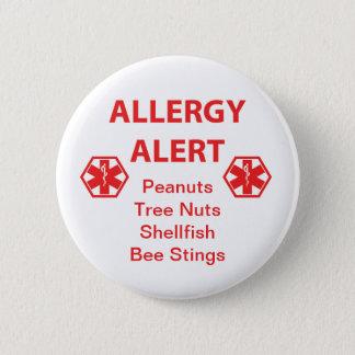 Den vakna anpassadeallergin knäppas standard knapp rund 5.7 cm