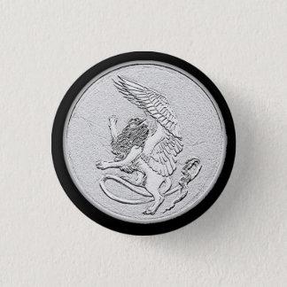 Den våldsamma sphinxen myntar knäppas mini knapp rund 3.2 cm