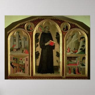 Den välsignade Agostino Novello altarpiecen Poster