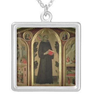 Den välsignade Agostino Novello altarpiecen Silverpläterat Halsband