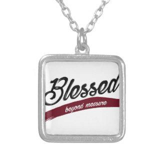 Den välsignade det okända mäter silverpläterat halsband