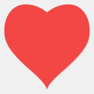 Den vanliga RÖDA ROSA LILAN skuggar Hjärtformat Klistermärke