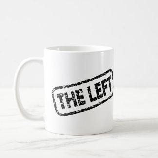 Den vänstra - stänga av åsiktsfrihet - protesten kaffemugg