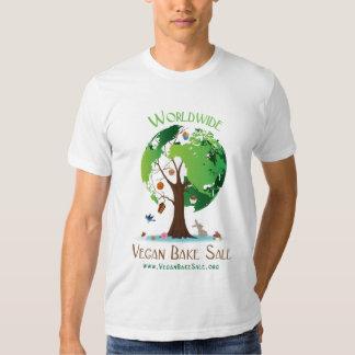 Den världsomspännande veganen bakar Saleskjortan Tshirts