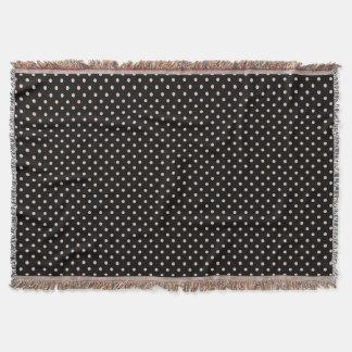 Den vävde kastfilten pricker lätt - brunt dekorativ filt