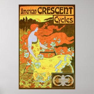 Den VÄXANDE amerikanen cyklar Poster