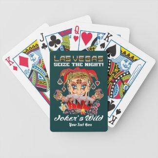 Den Vegas joker'sens vild beskådar om den Spelkort