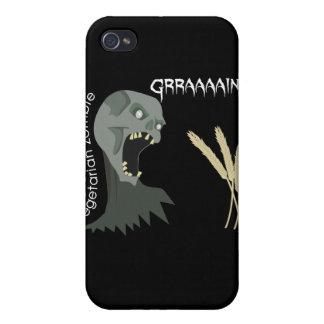 Den vegetariska zombien önskar Graaaains! iPhone 4 Fodral