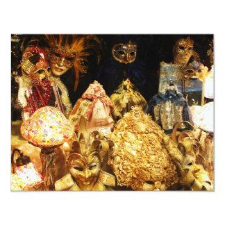 Den Venetian karnevalet maskerar - Venedig, 10,8 X 14 Cm Inbjudningskort