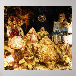 Den Venetian karnevalet maskerar - Venedig, Poster