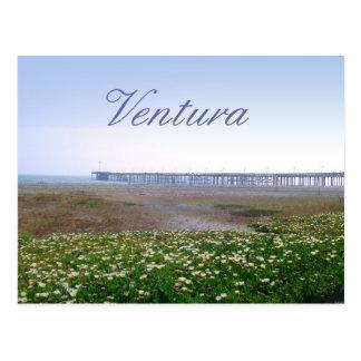 Den Ventura dyner och pir reser vykortet Vykort