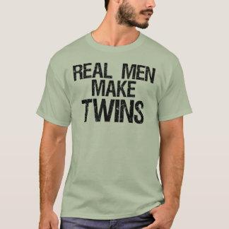 Den verkliga manar gör twillingar tee shirts