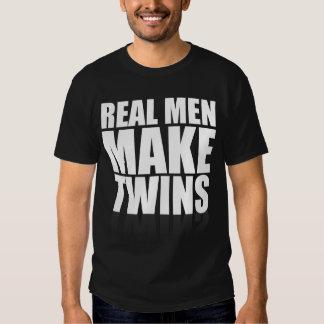 Den verkliga manar gör twillingar tshirts