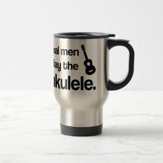 DEN VERKLIGA MANAR LEKER UKULELEN ROSTFRITT STÅL RESEMUGG