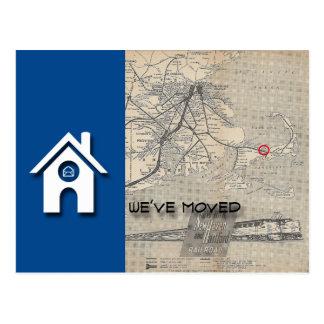 Den vi har flyttathuset & kartan byter ut med din vykort
