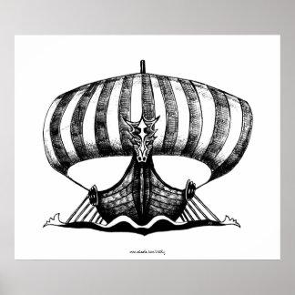 Den Viking frakten skrivar affischen för bläckteck Poster