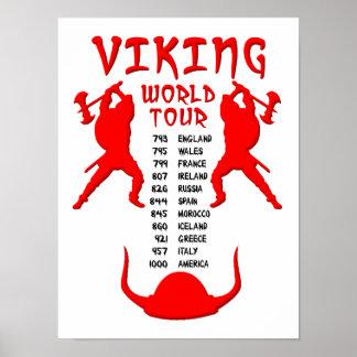 Den Viking världen turnerar affischen Poster