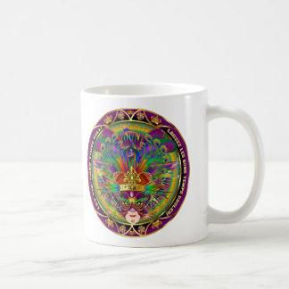 Den viktiga festivalkungen beskådar antyder kaffe koppar