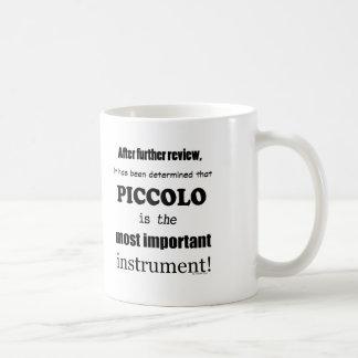 Den viktigaste piccoloen instrumenterar kaffemugg
