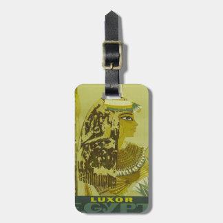 Den vintageLuxor egyptenen reser affischbagagemärk Bagagebricka