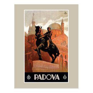 Den vintagePadua Padova italienare reser Vykort