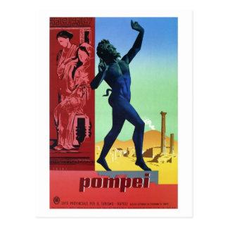 Den vintagePompeii italienare reser affischen Vykort